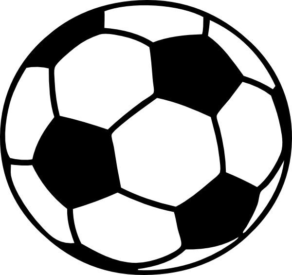 Black and white football clipart no background image library stock Football Ball Clip Art at Clker.com - vector clip art online ... image library stock
