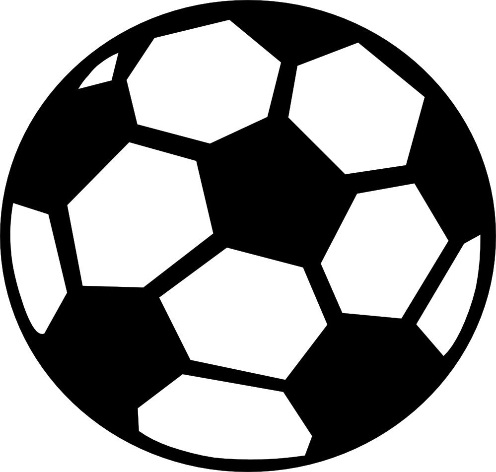 Soccer ball black and. Football clipart with flames png