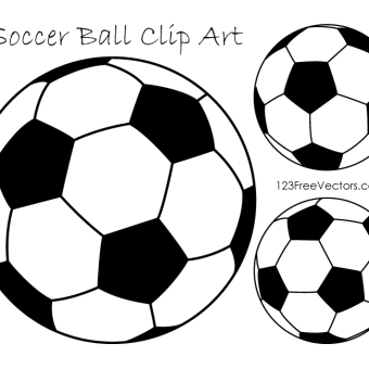 Soccer ball clipart vector banner black and white library 170+ Soccer Ball Vectors | Download Free Vector Art & Graphics ... banner black and white library