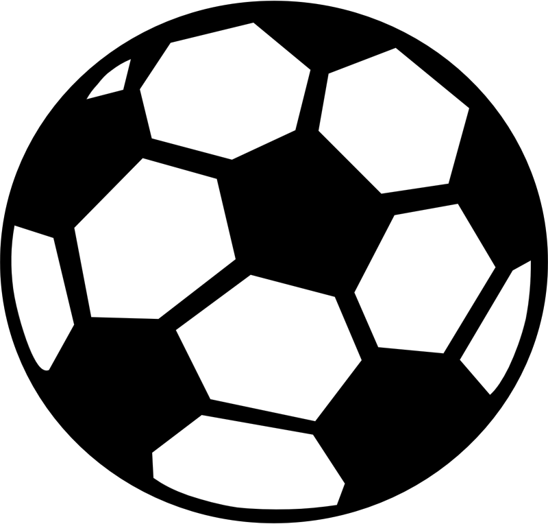 Football clipart black and white svg vector library stock Silhouette Soccer Ball at GetDrawings.com | Free for personal use ... vector library stock