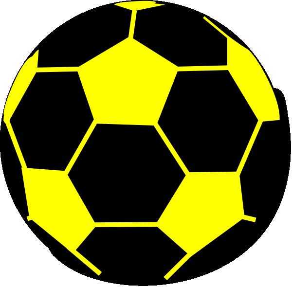 Soccer ball clipart vector clipart free stock Black Yellow Ball 2 Clip Art at Clker.com - vector clip art online ... clipart free stock