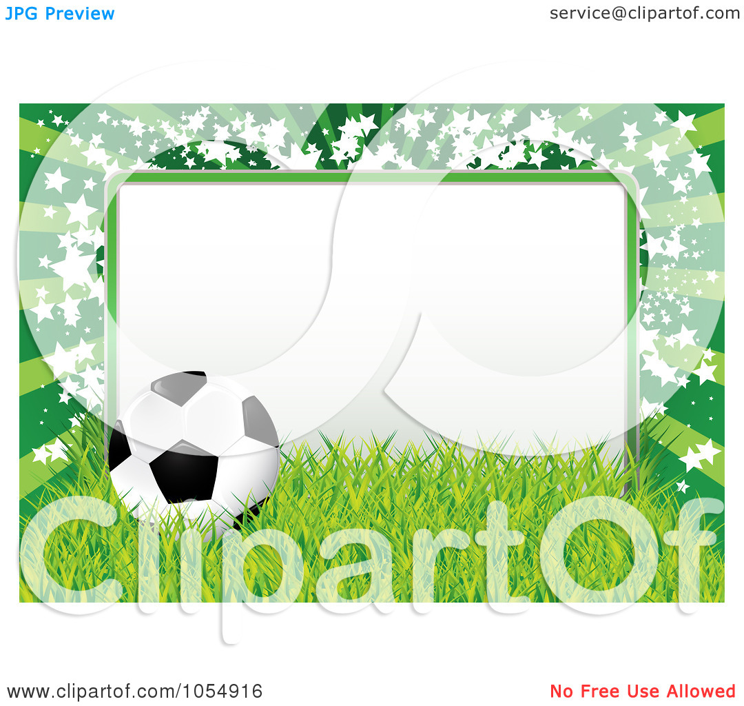 Soccer ball frame clipart png royalty free download Royalty-Free Vector Clip Art Illustration of a Soccer Ball, Grass ... png royalty free download