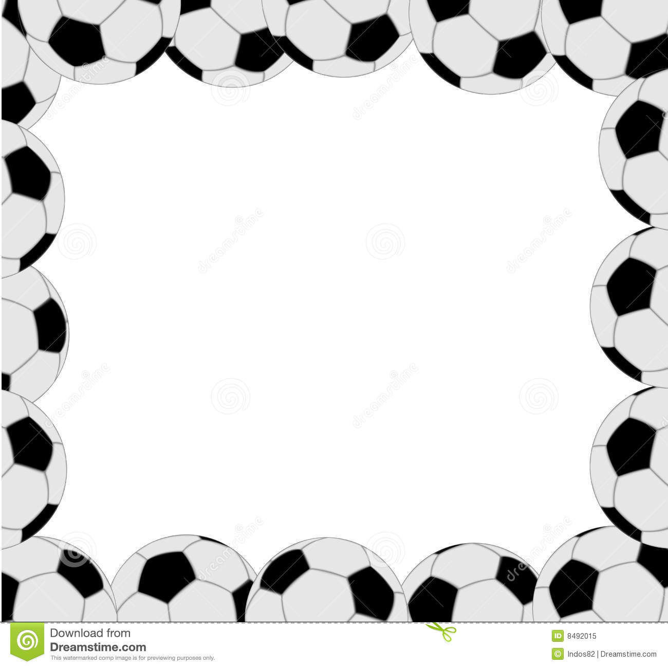Soccer ball frame clipart picture Soccer Frame / Border Stock Photos - Image: 19549543 picture