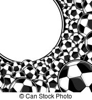 Soccer ball frame clipart clip download Vector Illustration of soccer balls frame, vector format very easy ... clip download