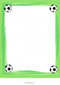 Soccer ball frame clipart clip freeuse stock Printable soccer ball border. Use the border in Microsoft Word or ... clip freeuse stock