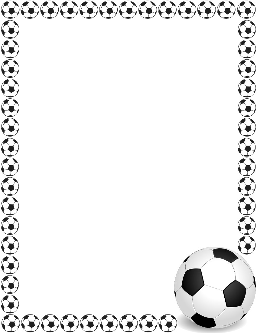 Soccer ball frame clipart clipart royalty free Free clip art soccer ball border - ClipartFest clipart royalty free