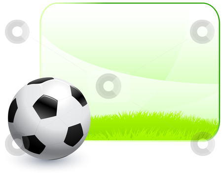 Soccer ball frame clipart vector freeuse stock Soccer Ball with Blank Nature Frame Background stock vector vector freeuse stock