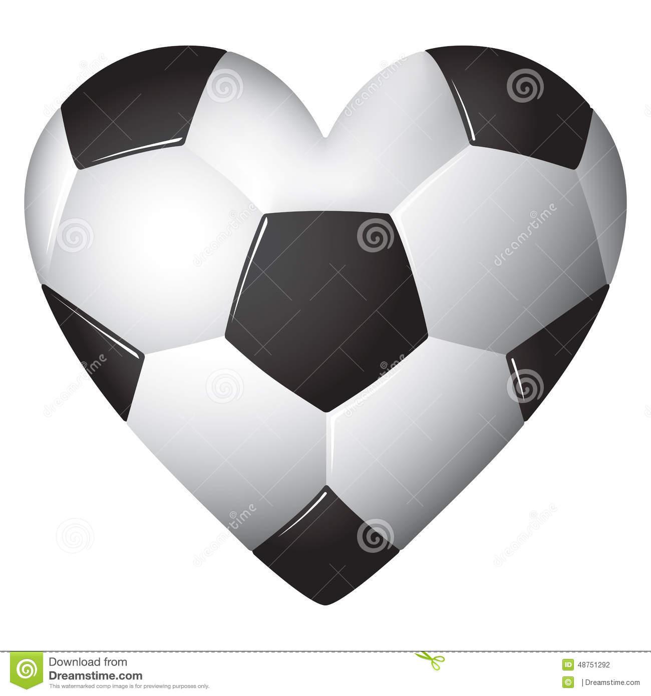 Soccer ball heart clipart banner free library Soccer Ball Football Heart Stock Illustrations – 441 Soccer Ball ... banner free library