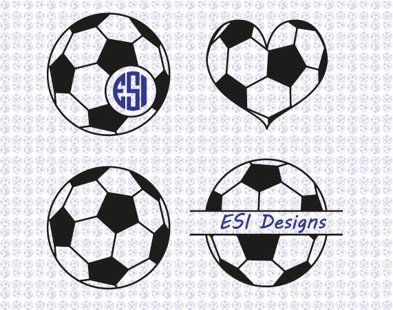 Soccer ball heart clipart svg free Soccer ball heart | Etsy svg free