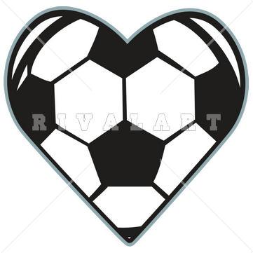 Soccer ball heart clipart graphic Soccer ball heart clipart - ClipartFest graphic
