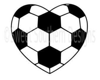 Soccer ball heart clipart clip art freeuse stock Soccer ball heart | Etsy clip art freeuse stock