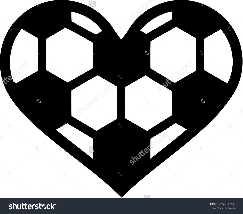 Soccer ball heart clipart vector free stock Soccer Ball Heart Stock Vector 274933970 - Shutterstock vector free stock