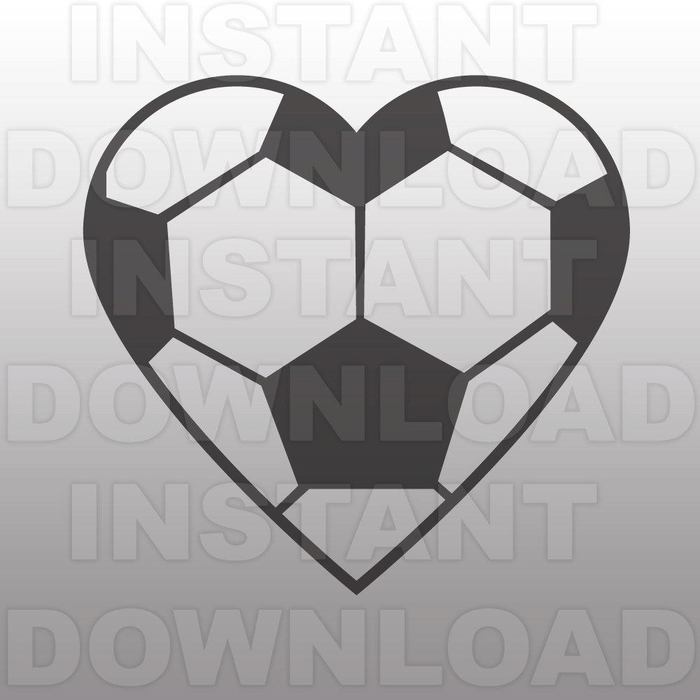 Soccer ball heart clipart clip art free download Soccer Ball Heart SVG File Cutting Template-Clip Art for clip art free download