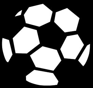 Soccer ball outline clipart image transparent 22481 soccer ball clip art outline white   Public domain vectors image transparent