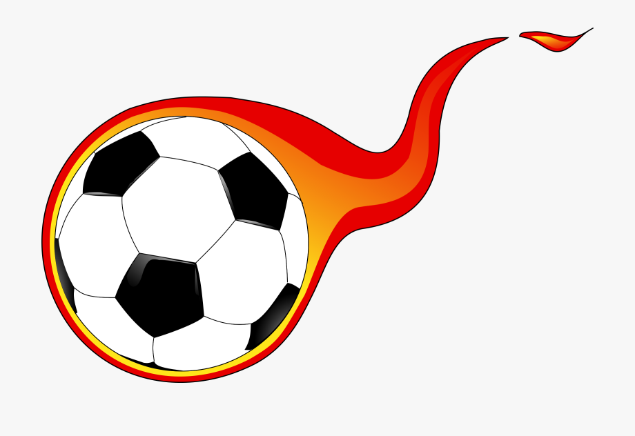 Soccer ball with flames clipart image free stock Flaming Soccer Ball Clip Art Library Library - Soccer Ball ... image free stock