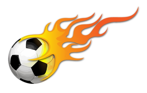 Soccer ball with flames clipart vector free download Flaming Soccer Ball Clipart | Free download best Flaming ... vector free download