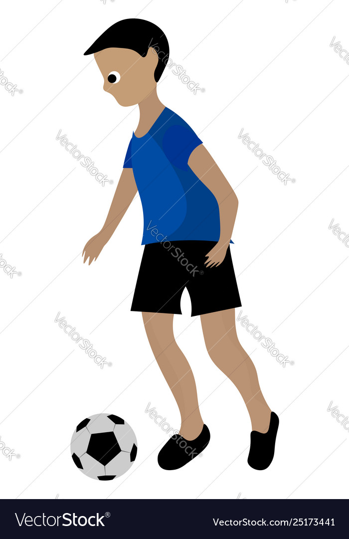 Soccer boy clipart image royalty free download Clipart a boy playing soccer ball or color image royalty free download