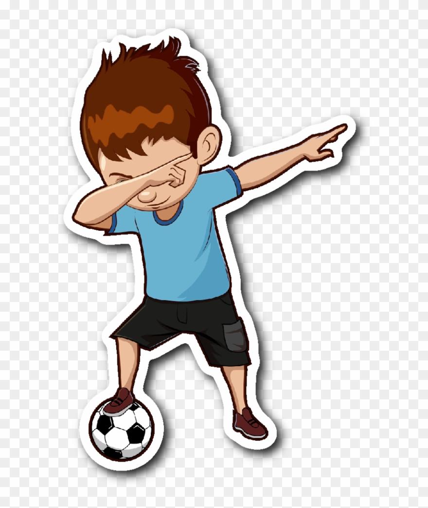 Soccer boy clipart free library Boy Dabbing Clipart - Soccer Stickers - Png Download ... free library