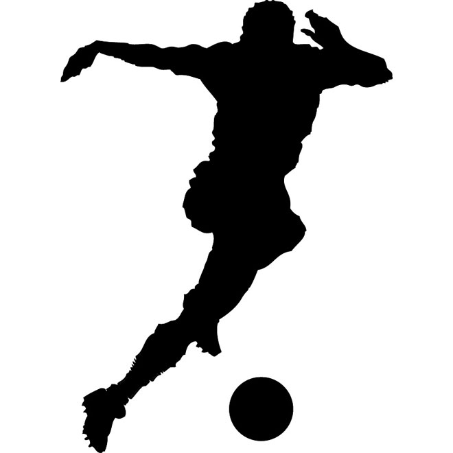 Soccer clipart vector jpg transparent library Soccer player silhouette vector - Free vector image in AI ... jpg transparent library