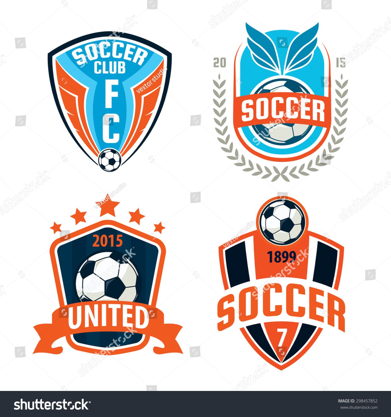 Soccer crest template clipart graphic black and white download Football badge logo template design,soccer team,vector ... graphic black and white download