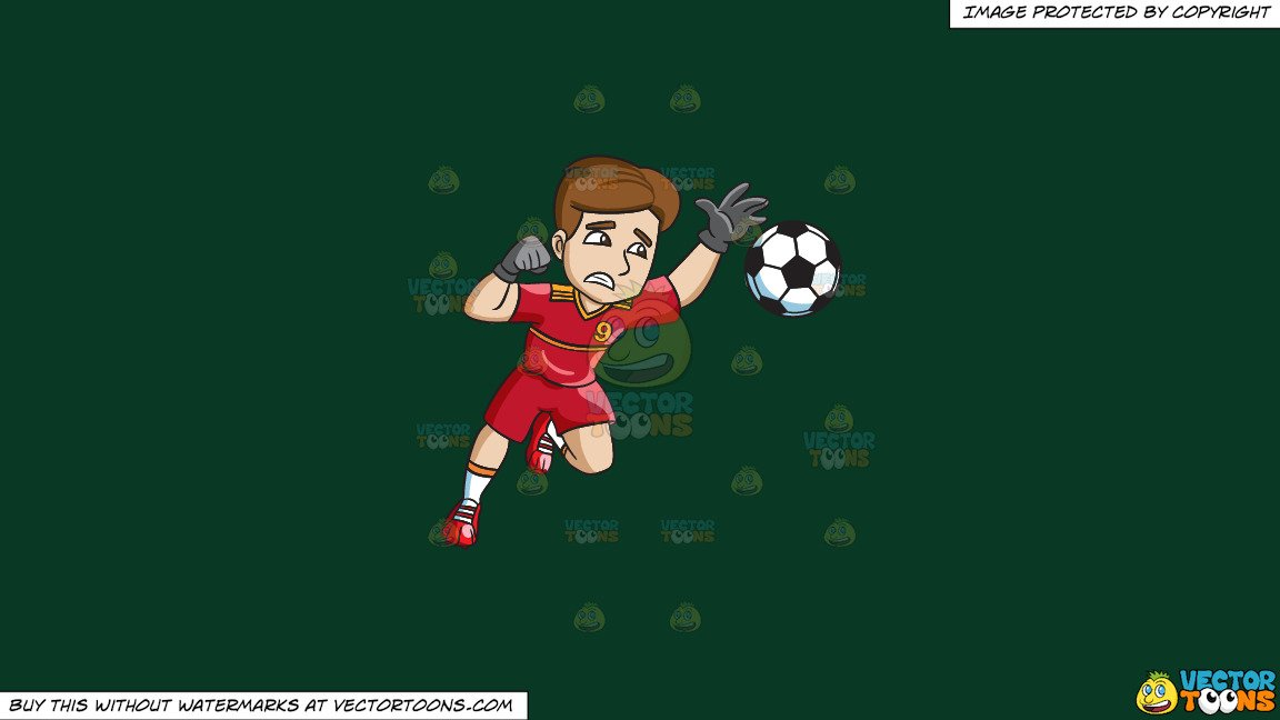 Soccer defending clipart png stock Clipart: A Male Soccer Goal Keeper Defending His Home Goal on a Solid Dark  Green 093824 Background png stock