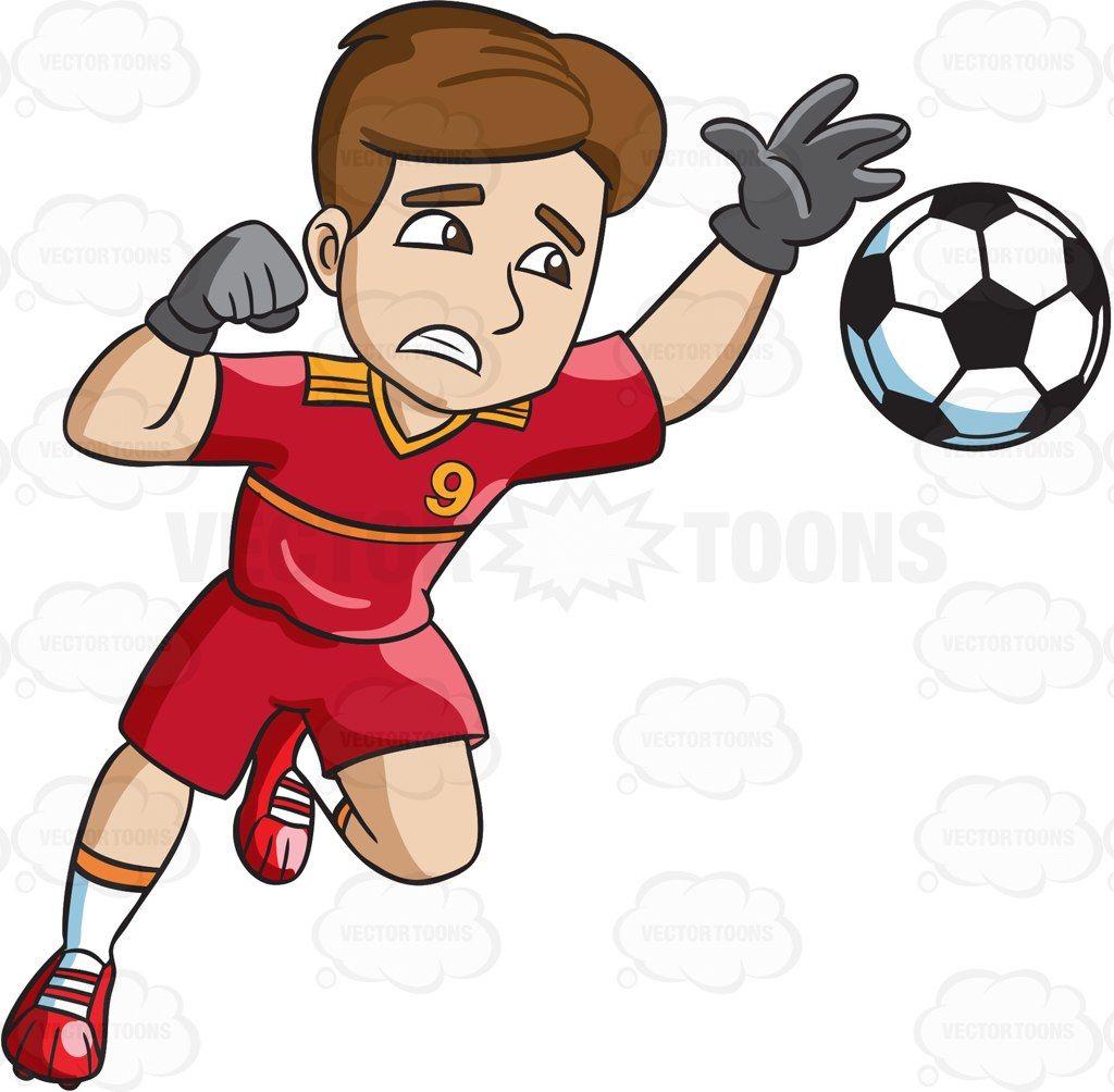 Soccer defending clipart image transparent download A male soccer goal keeper defending his home goal #cartoon ... image transparent download