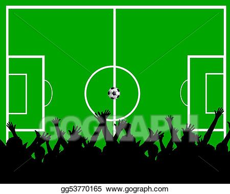 Soccer field background clipart png library library Stock Illustration - Soccer field background. Clipart ... png library library