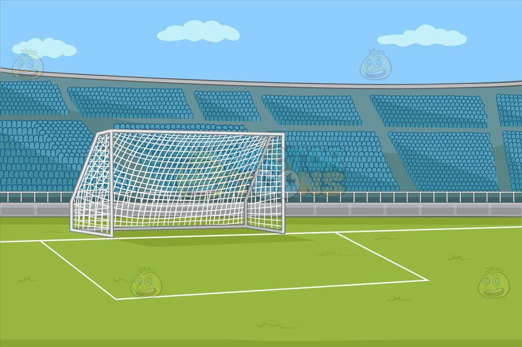 Soccer field background clipart freeuse A Soccer Field With Stadium Seating Background freeuse