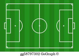 Soccer field clipart free