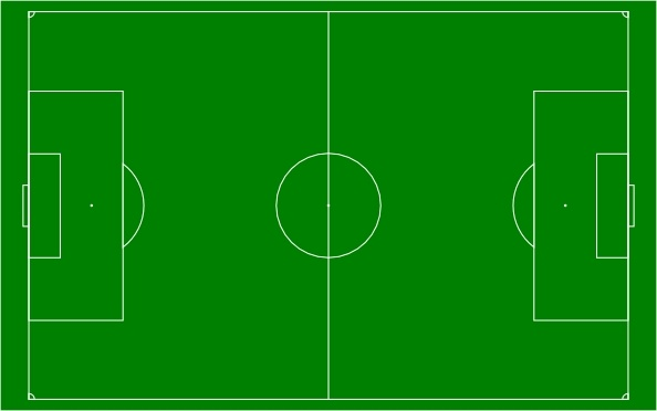 Soccer Field Football Pitch clip art Free vector in Open ... clip black and white