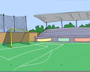 Clipart Soccer Field | Free Images at Clker.com - vector ... jpg black and white