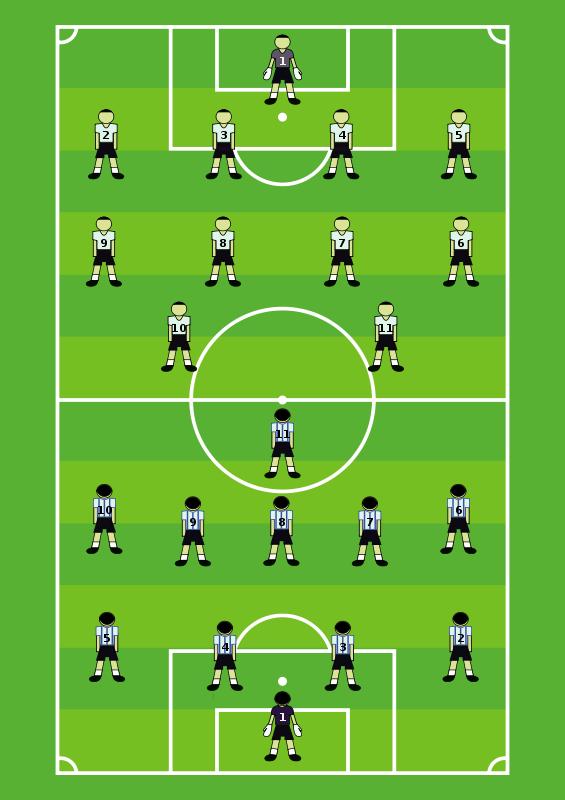 Free Clipart: Soccer Field | Robert Ingil clip black and white