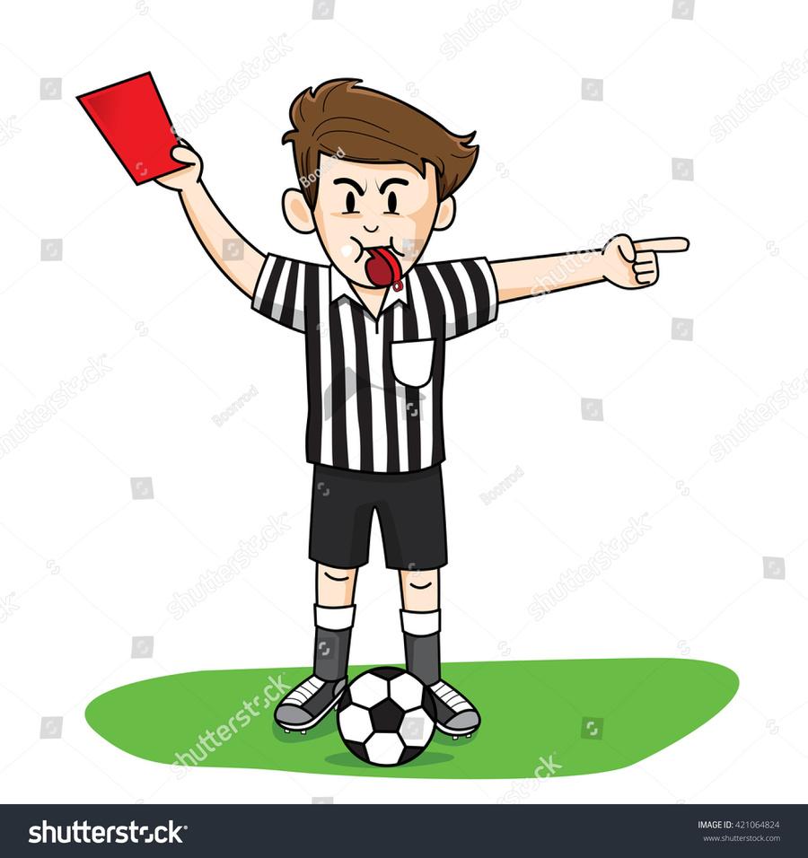 Soccer ref clipart