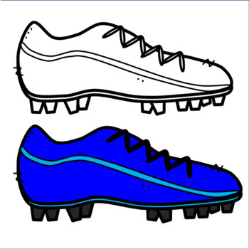 Soccer shoes clipart jpg black and white Colorful Football or Soccer Cleat Clipart! Shoe Clipart by ... jpg black and white