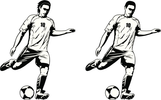 Boy shooting a soccer ball clipart - Clip Art Library jpg library