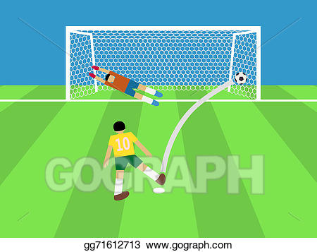 Stock Illustration - Football player shooting soccer ball to ... banner download