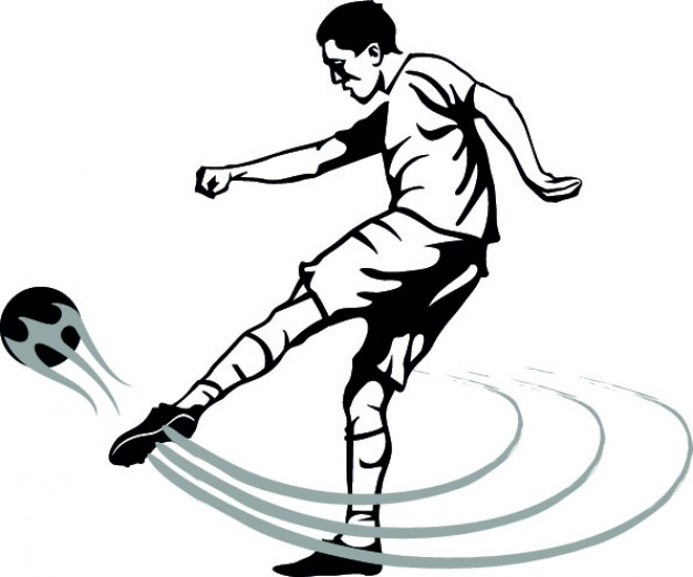 Soccer Player Clipart Black And White | Free download best ... png freeuse library