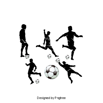 Football Player Silhouette, Soccer Player, Silhouette ... image stock