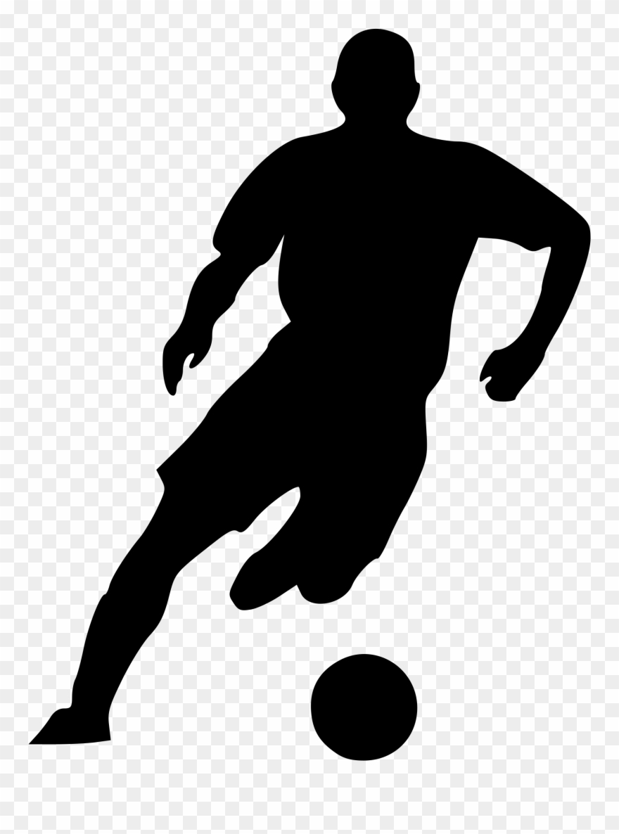 Soccer silhouette clipart transparent stock Big Image - Soccer Player Silhouette Png Clipart (#870757 ... transparent stock