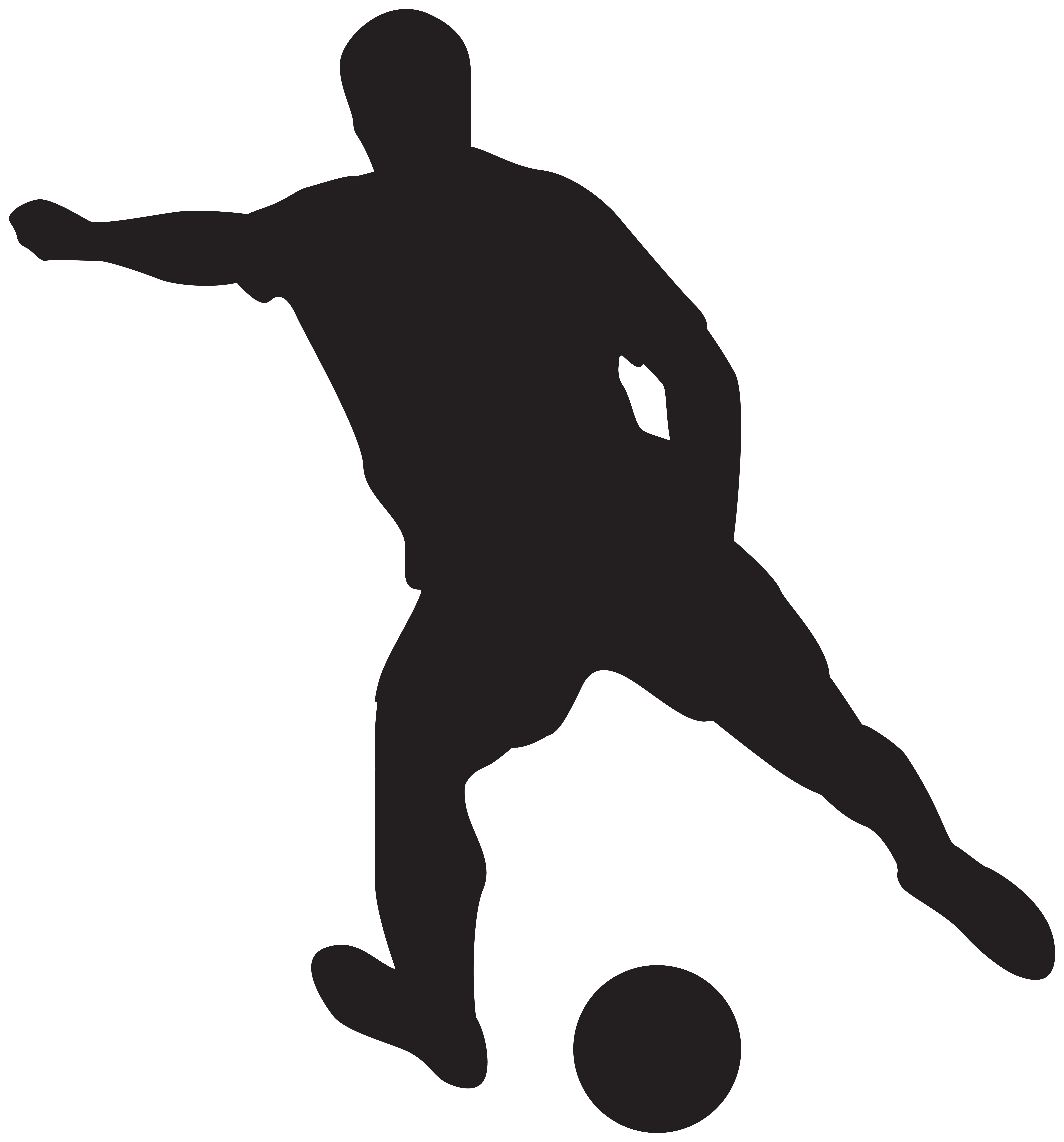 Soccer silhouette clipart clipart library download Soccer Player Silhouettes Clipart Image   Gallery ... clipart library download