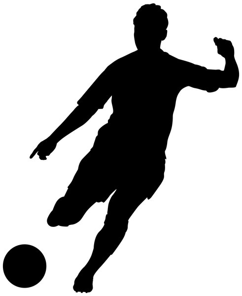 Soccer silhouette clipart image black and white Free Soccer Silhouette Girl, Download Free Clip Art, Free ... image black and white
