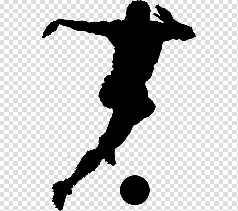 Soccer silhouette clipart clip art black and white Football player , playing soccer silhouette figures material ... clip art black and white