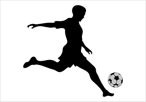 Soccer silhouette clipart clipart royalty free stock sports silhouette - Google Search | Library: Window Display ... clipart royalty free stock