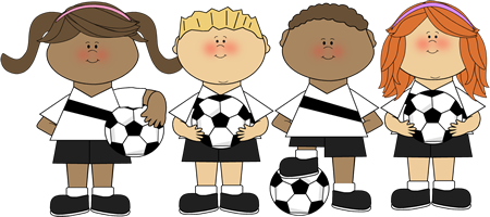Soccer with kids clipart