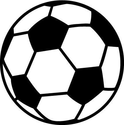 Pink soccer ball clipart free . | Soccer | Soccer ball ... clip art black and white
