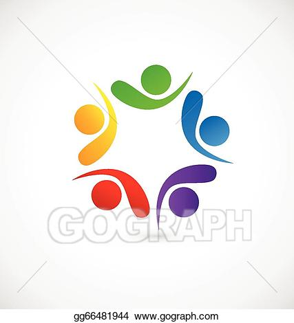 Social app clipart clip art transparent library Vector Art - Teamwork social media app logo. EPS clipart ... clip art transparent library