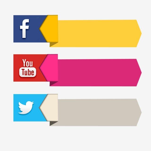 Social media bar clipart jpg download Facebook Youtube Banner Social Media 3d Icon Label, Social ... jpg download