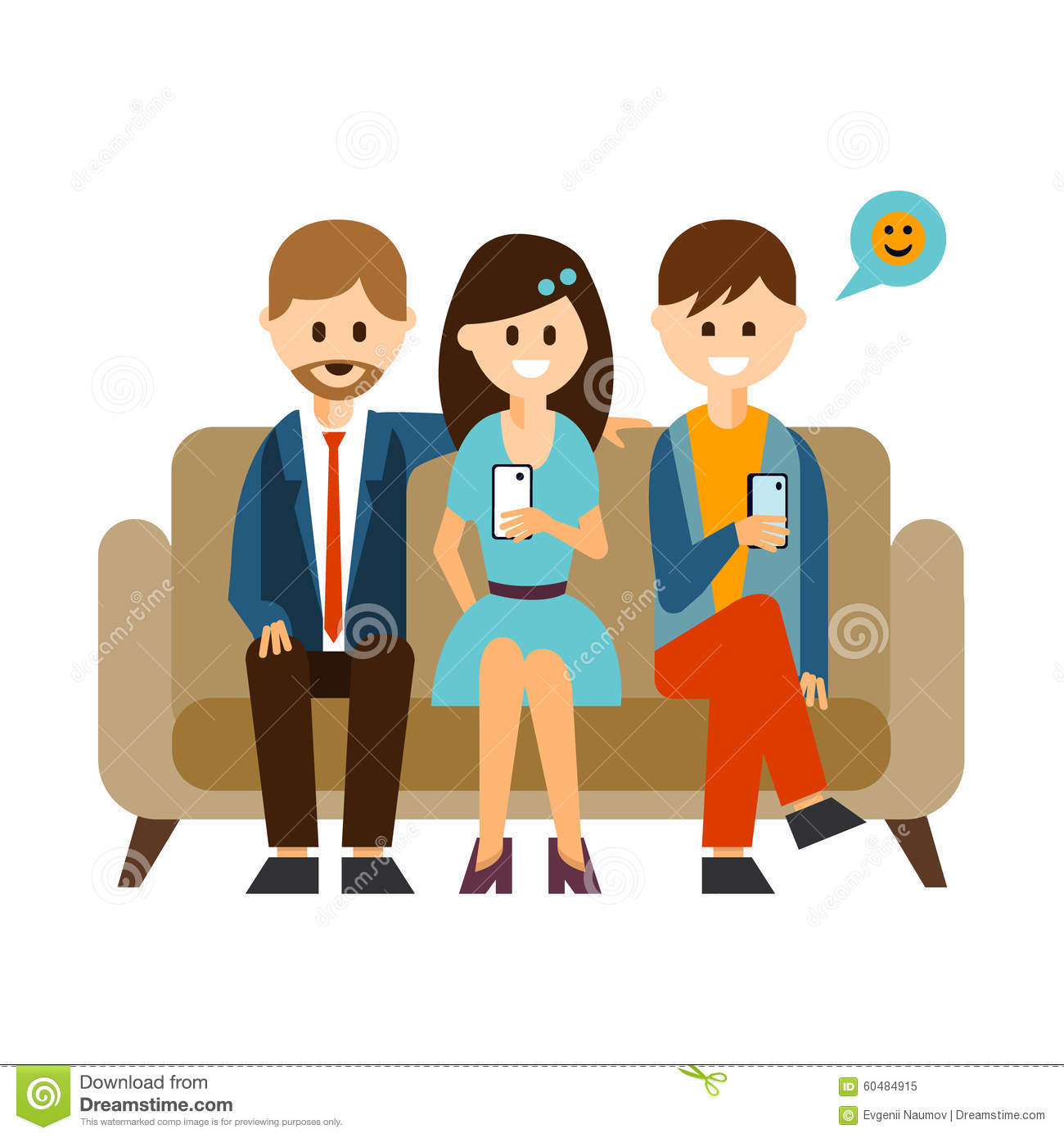 Social media cell phone photo clipart png transparent library Young People Communicating In Social Media Vector Stock Vector ... png transparent library