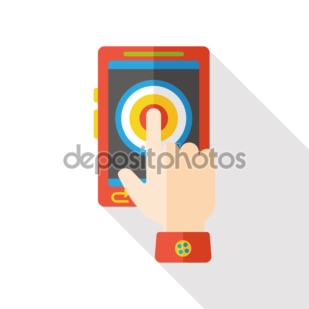 Social media cell phone photo clipart clip art download Social media cellphone flat icon; Button — Stock Vector © yitewang ... clip art download