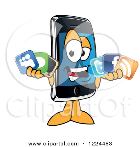 Social media cell phone photo clipart picture royalty free download Social media cell phone photo clipart - ClipartFest picture royalty free download